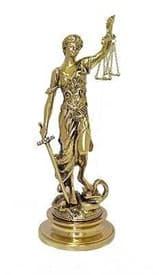 "Статуэтка ""Богиня правосудия Фемида"", бронза 40*17см - фото 5846"