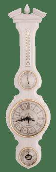 Часы-метеостанция БМ97 бел. - барометр, термометр, гигрометр 80*21 см - фото 10033