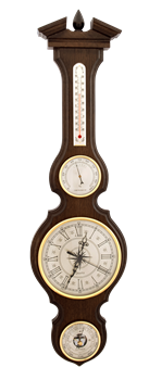 Часы-метеостанция БМ97 - барометр, термометр, гигрометр 80*21 см - фото 10207