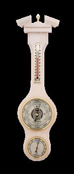 Метеостанция БМ52 бел: барометр, гигрометр, термометр 47*13см - фото 10386