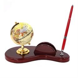 Настольный набор (глобус, ручка, держатель для визиток), 26*14*18 см - фото 10701