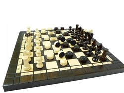 Шахматы два в одном 35*17,5*5см - фото 10975