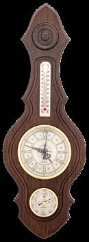 Часы-метеостанция БМ74 - барометр, термометр 20*56см - фото 11313
