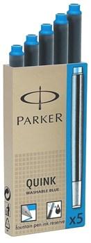 Картриджи стандартные с синими чернилами для перьевых ручек Parker - фото 11756