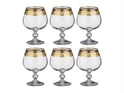 """Набор бокалов для коньяка """"Клаудия"""" с позолотой 6шт, 250мл - фото 7190"""