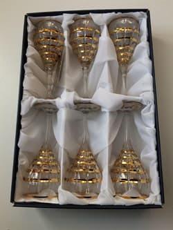"""Набор: 6 хрустальных бокалов для вина """"Готик"""" - фото 7200"""