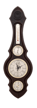 Часы-метеостанция БМ75 - барометр, термометр, гигрометр 60*20см - фото 9646