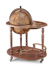 """Глобус-бар """"Giasone"""" напольный со столиком d=40см, 52*73*93 см"""