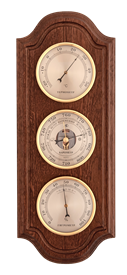 Метеостанция БМ47 - барометр, термометр, гигрометр 16*39см