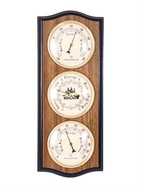 "Метеостанция настенная ""BRIGANT"": барометр, термометр, гигрометр 30см"