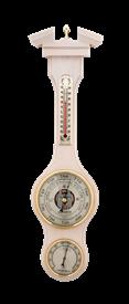 Метеостанция БМ52 бел: барометр, гигрометр, термометр 47*13см