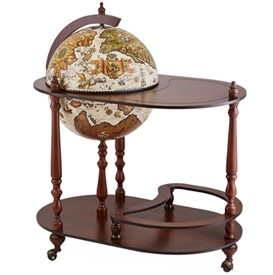 """Глобус-бар """"Vivalto"""" напольный со столиком d=42см, 50*80*95 см"""