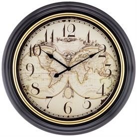 """Часы настенные """"World map"""" 50,8*50,8*4,5 см"""