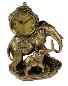 Часы настольные Слоны 33*18*41см