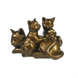 Фигура декоративная Кошка с котятами 17*12*11 см