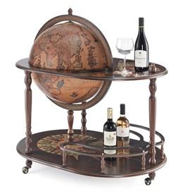 """Глобус-бар """"Артемида"""" напольный со столиком d=50см, 68*92*98 см"""
