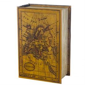 Шкатулка-фолиант Карта 24*16*8см