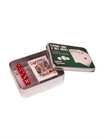 """Подарочный набор """"Покер"""": набор игральных карт, кости"""