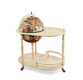 """Глобус-бар """"Открытие нового света"""" бел.напольный со столиком d=42см, 50*80*95 см"""