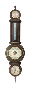 Метеостанция БМ20: часы, барометр, термометр, гигрометр 28*115см