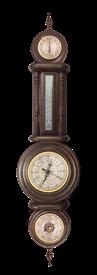 Часы-метеостанция БМ20: барометр, термометр, гигрометр 28*115см