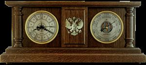 Часы-метеостанция БН4 - барометр 25*56 см Герб РФ