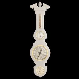 Часы-метеостанция БМ95 бел - барометр, термометр, гигрометр 68*17 см