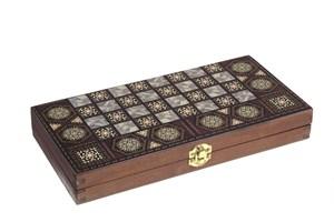 Набор настольных игр (шахматы, шашки, нарды), 29,5*14,5*4 см