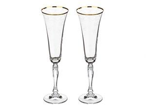 "Набор бокалов для шампанского 2 шт.""Love"" 180 мл, Н25см"