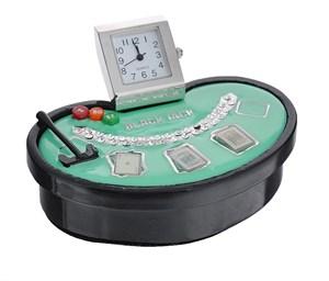 """Часы настольные """"Покер"""" 9*7*4см"""