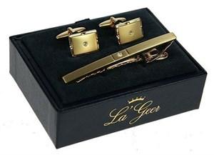 Подарочный набор LA GEER (заколка для галстука, запонки) 7*3*10см