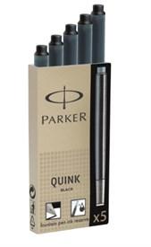 Картриджи стандартные с черными чернилами для перьевых ручек Parker