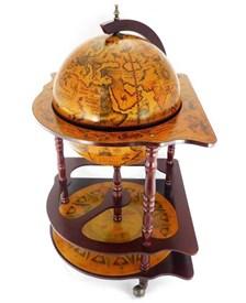 Глобус бар «Под парусом бригантины» напольный, угловой d=42см, 54*54*93см