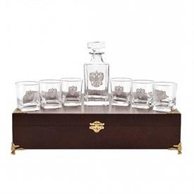 Набор бокалов для виски(Герб) 6шт. со штофом