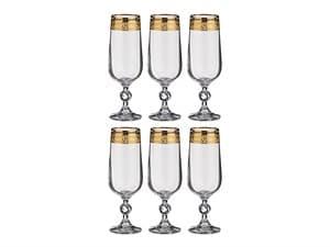 """Набор бокалов для шампанского """"Клаудия"""" 6шт, 180мл"""