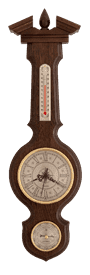 Часы-метеостанция БМ94 - барометр, термометр 59*17см