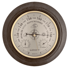 Метеостанция  БМ8/3 - барометр, термометр, гигрометр d24cм