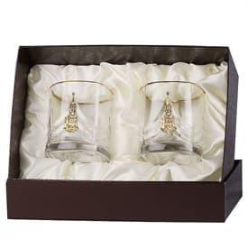 Набор бокалов для виски 2 шт. Кремль (латунь)
